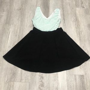 Skater dress with back cut outs